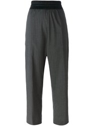 Antonio Marras Pinstripe Trousers Grey