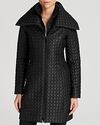 Dawn Levy Gwen Dot Quilt Coat Black