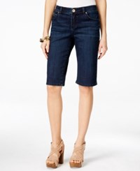 Inc International Concepts Bermuda Length Curvy Fit Diva Wash Jean Shorts Only At Macy's