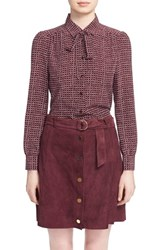 Kate Spade Women's New York 'Parker Dot' Print Silk Bow Blouse