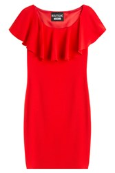 Boutique Moschino Draped Top Dress Red