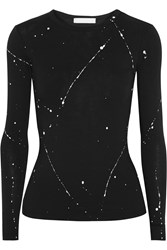 Kain Label Edith Printed Cotton And Modal Blend Jersey Top Black