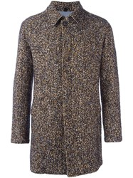 Tonello Tweed Coat Multicolour
