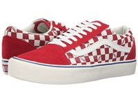 Vans Old Skool Lite Seeing Checkers Chilli Marshmallow Men's Skate Shoes Red