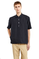 Our Legacy Popover Short Sleeve Shirt Marine