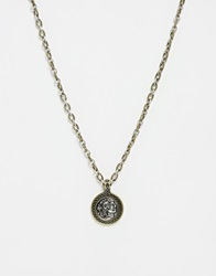 Icon Brand King Alex Coin Necklace Silver