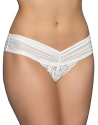 Hanky Panky Retro Bridal Thong With Mesh Marshmallow
