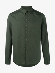 By Walid Ben Camouflage Green Cotton Shirt Khaki Camouflage Green Khaki Green Beige