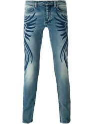 Roberto Cavalli Embroidered Side Jeans Blue