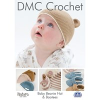 Dmc Creative Natura Just Cotton Baby Beanie Hat And Booties Crochet Pattern
