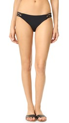 Red Carter Splice And Dice Side Cutout Classic Bottoms Black