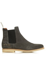 Common Projects Suede Chelsea Boots Dark Grey