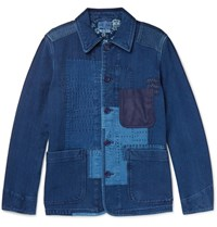 Blue Blue Japan Lim Fit Patchwork Cotton Jacket Indigo