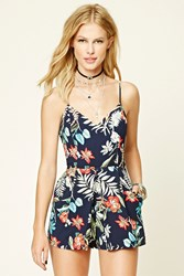 Forever 21 Tropical Cutout Back Romper