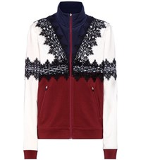 Ganni Rogers Lace Trimmed Jacket Multicoloured