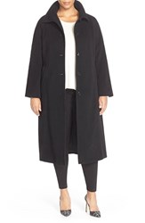 Plus Size Women's Ellen Tracy Long Wool Blend Coat