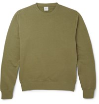 Aspesi Loopback Cotton Jersey Sweatshirt Green