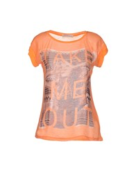 Red Soul Topwear T Shirts Women Orange