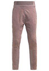 Mos Mosh Leather Trousers Grey