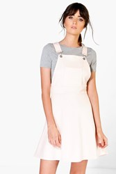 Boohoo Pocket Pinafore A Line Dress Nude
