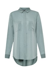 French Connection Polly Plains Shirt Grey