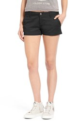 Junior Women's Volcom 'Frochickie 2.5' Chino Shorts Black