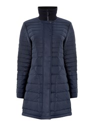 Hunter Original Short Refined Puffa Coat Navy
