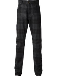 Alexander Mcqueen Checked Straight Leg Jeans Black