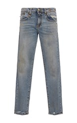 R 13 R13 Alison Cropped Straight Legged Jeans Light Wash