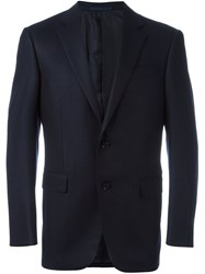 Ermenegildo Zegna Two Button Suit Jacket Blue