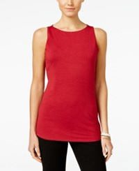 Inc International Concepts Petite Boat Neck Tank Top Only At Macy's Glazed Berry
