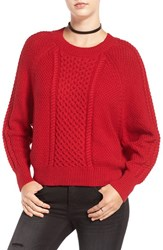 Women's Bp. Cable Knit Dolman Sweater Red Scooter