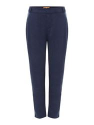 Hugo Boss Sacuty Relaxed Trousers With Pockets Navy