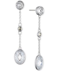Judith Jack Sterling Silver Crystal And Marcasite Drop Earrings