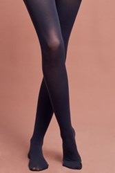Anthropologie Opaque Tights Navy