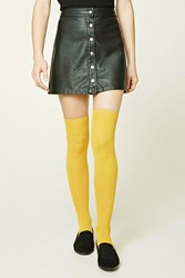 Forever 21 Ribbed Over The Knee Socks