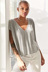 Silence And Noise Exton Cape Sleeve Popover Top Grey