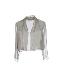 Alberta Ferretti Topwear Shrugs Women Dove Grey