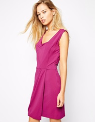Supertrash Dasha Dress With Drape Front Purple