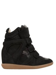 Isabel Marant Etoile 80Mm Bekett Suede Wedge Sneakers