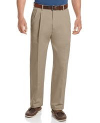 Haggar Big And Tall Pants Work To Weekend Pleated Pants Khaki