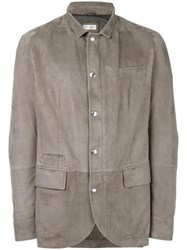 Brunello Cucinelli Flap Pocket Jacket Grey