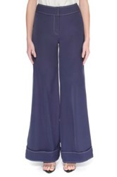 Cameo C Meo 'Talk That' Wide Leg Pants Blue