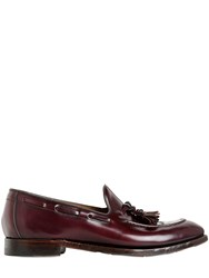 Silvano Sassetti Tasseled Brushed Leather Loafers
