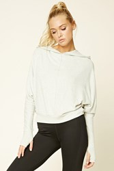 Forever 21 Active Dolman Hooded Sweatshirt Heather Grey