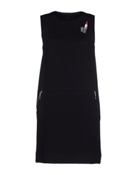 American Retro Short Dresses Black
