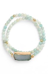 Women's Elise M. Double Wrap Beaded Bracelet Green Jade