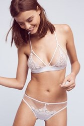 Anthropologie Fleur Of England Ouvert Briefs Silver