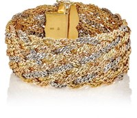 Mahnaz Collection Vintage Women's Braided Rope Bracelet Gold