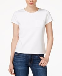 Rachel Rachel Roy Short Sleeve Scuba T Shirt White